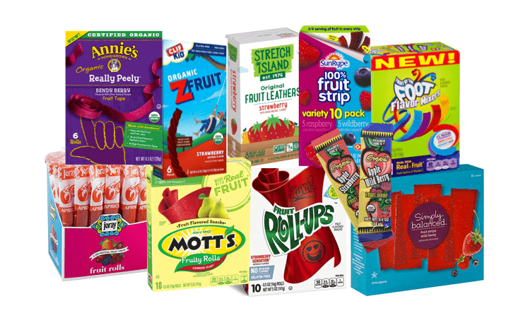 Choosing Healthier Fruit Roll-Ups and Fruit Strips